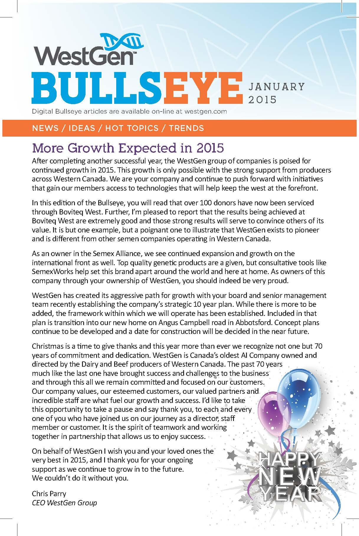 Bullseye January 2015